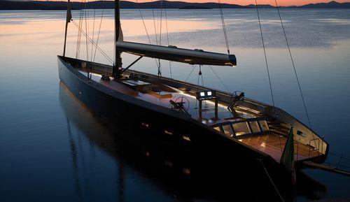 cruising sailing super-yacht / classic / open transom / 8-cabin