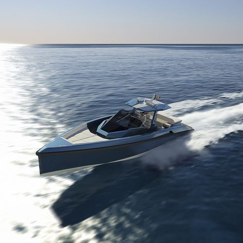 inboard express cruiser / twin-engine / open / center console