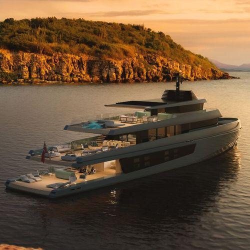 cruising super-yacht / raised pilothouse / steel