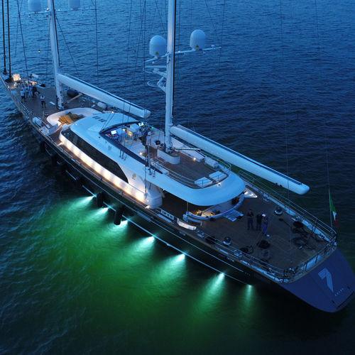 cruising sailing super-yacht / wheelhouse / aluminum / ketch