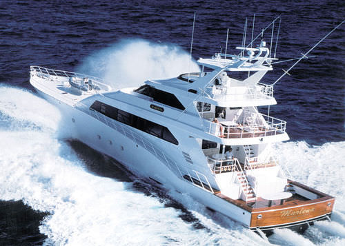 Wheelhouse super-yacht / sport-fishing / aluminum / displacement hull MARLENA Trinity Yachts