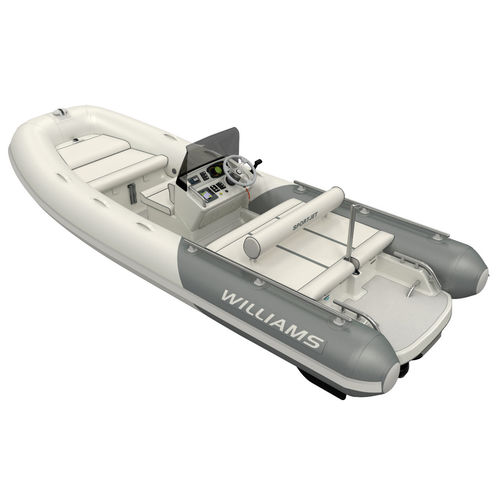 hydro-jet inflatable boat / rigid / side console / sport