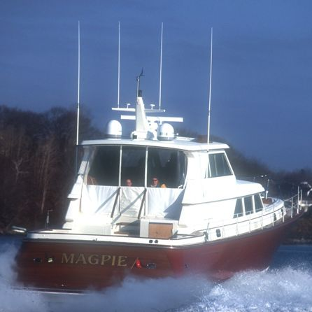 cruising motor yacht / wheelhouse / 1-cabin