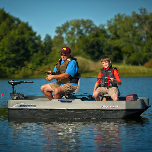 outboard small boat / electric / sport-fishing / 2-place