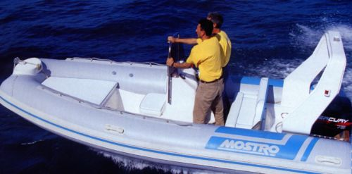 outboard inflatable boat / RIB / side console / offshore
