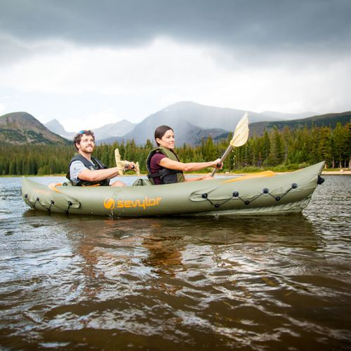sit-on-top kayak / inflatable / fishing / two-seater