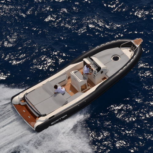inboard inflatable boat / rigid / center console / 20-person max.