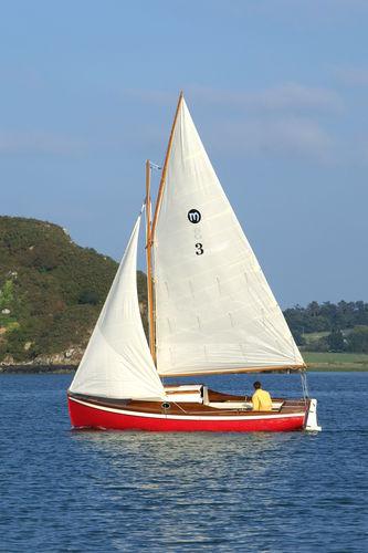 monohull / day-sailer / classic / open transom