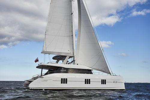 catamaran / charter / open transom / flybridge