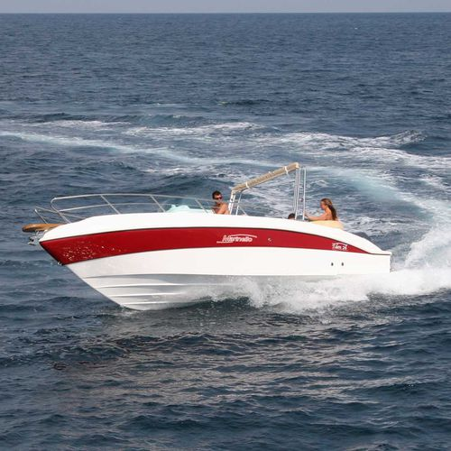 outboard walkaround / 10-person max. / with cabin / sundeck