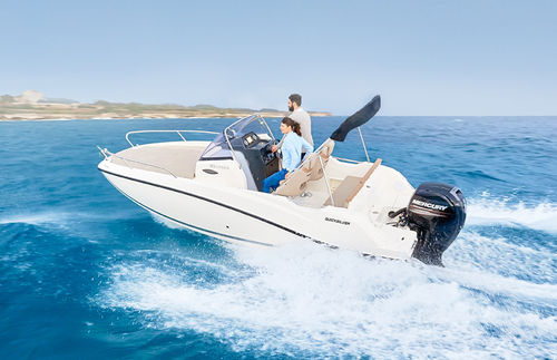 outboard walkaround / 7-person max. / sundeck