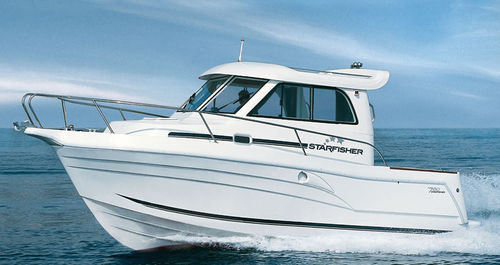 outboard walkaround / wheelhouse / cruising-fishing / 8-person max.