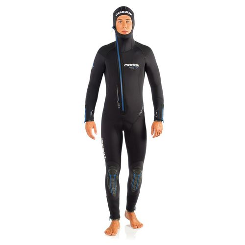 dive wetsuit / one-piece / with hood / men's