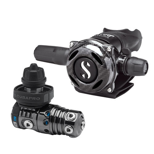 first and second stage scuba regulator / DIN / for cold water / piston
