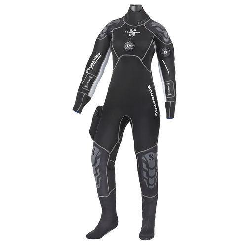 dive wetsuit / one-piece / long-sleeve / women's