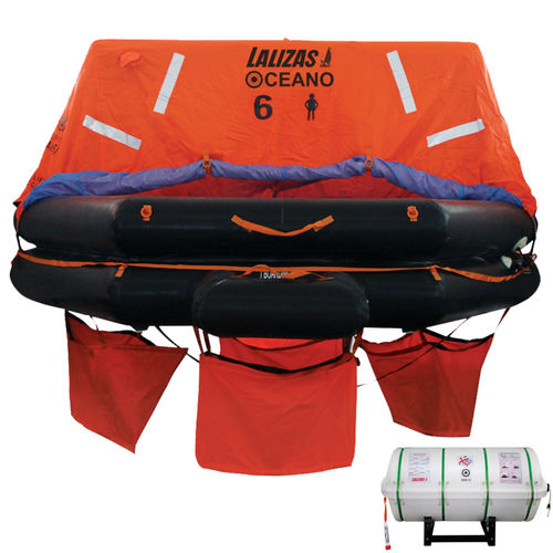 ship liferaft / offshore / SOLAS / throw-overboard