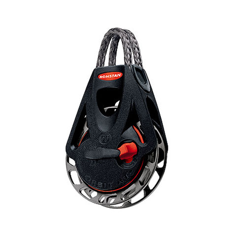 ratchet block / single / with Dyneema® ring / max. rope ø 10 mm