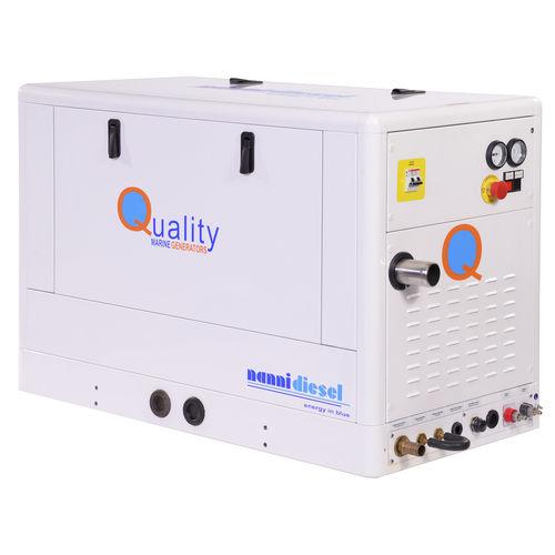 Boat generator set / diesel / soundproofed QMS 10M Nanni Industries