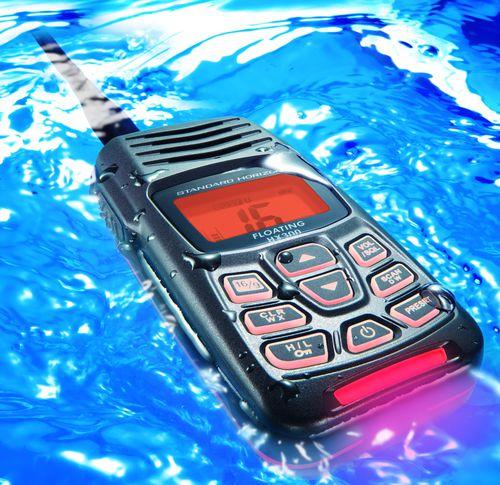 boat radio / portable / VHF / submersible