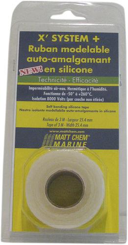 Silicone adhesive tape X' SYSTEM + MATT CHEM MARINE
