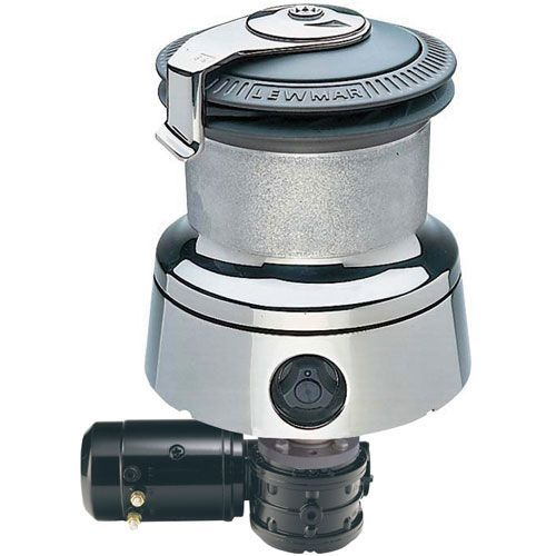 self-tailing sailboat winch / electric / single-speed / stainless steel