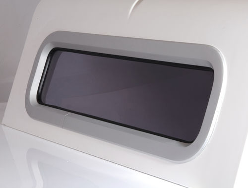 rectangular portlight / for boats / with rounded corners