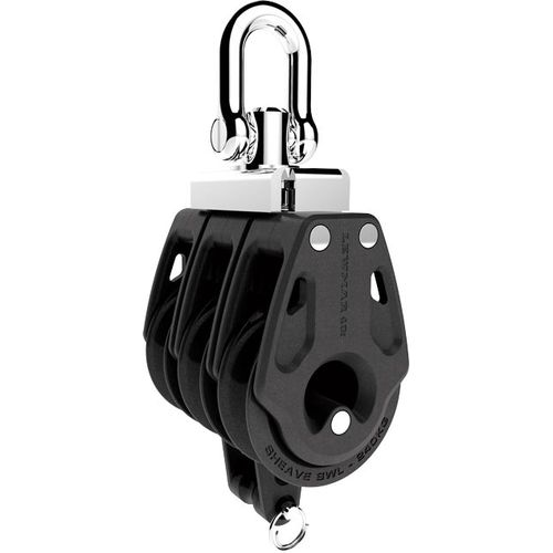 ball bearing block / triple / with swivel / with becket