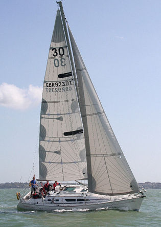 Genoa / for cruiser-racer sailboats / tri-radial cut VOYAGER RACE Hydesails