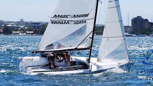 double-handed sailing dinghy / regatta / skiff