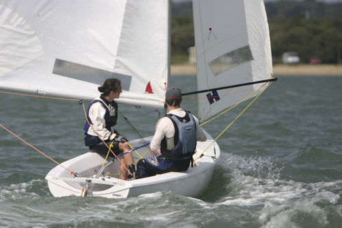 double-handed sailing dinghy / regatta