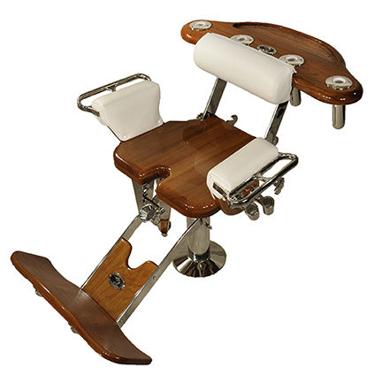 boat fighting chair / with armrests / teak