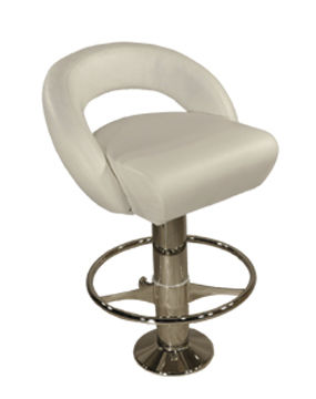 ship bar stool / for yachts / stainless steel / round base