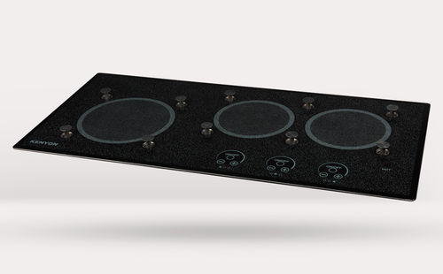 Electric cooktop / for boats / three-burner LITE-TOUCH Q® 3 BURNER WITH PUPS Kenyon International, Inc.