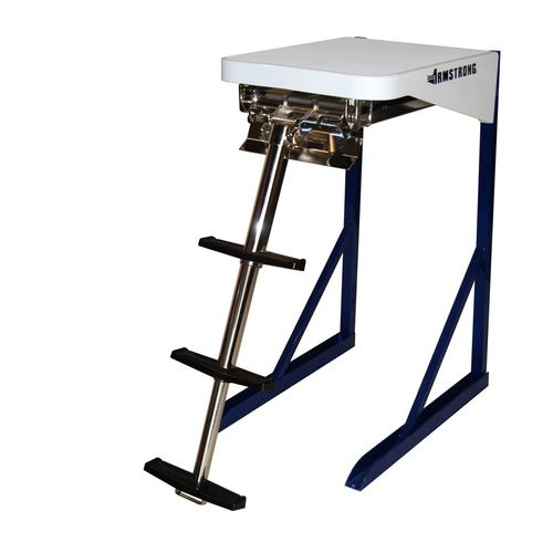 boat ladder / telescopic / swim / manual