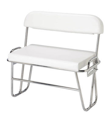 helm seat / for boats / 2-person / stainless steel
