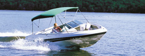 Power boat Bimini top / cockpit / aluminum frame Hot Shot™ Taylor Made Products