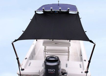 Power boat awning T-Top Taylor Made Products