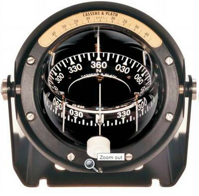 boat steering compass / magnetic / vertical / built-in