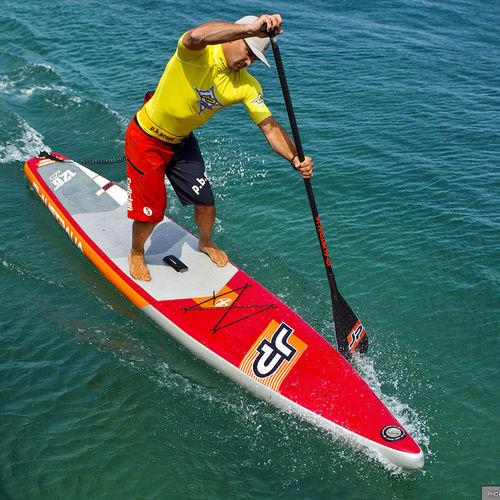 racing SUP / inflatable / PVC / EVA