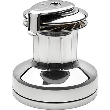 self-tailing sailboat winch / 2-speed / stainless steel