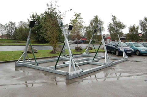 sailboat boat stand / galvanized steel