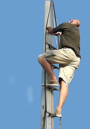 sailboat ladder / adjustable / mast / manual