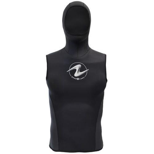 sleeveless neoprene top / with hood / unisex / thermal