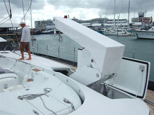 Yacht davit / hydraulic / rotary operated / folding EZ-FC Nautical Structures