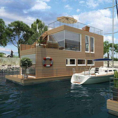 floating house platform / floating