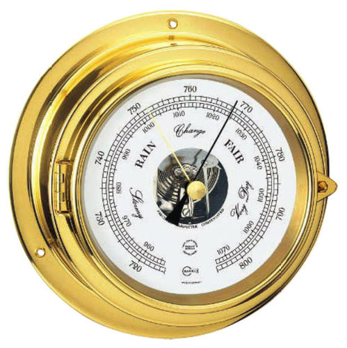 analog barometer / brass