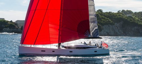 woven sailcloth / cruising / spinnaker / polyester