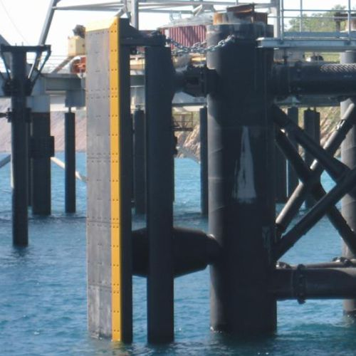 Harbor fender / pier / parallel motion PMF series Trelleborg Marine Systems