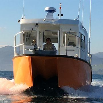 hydrographic survey boat / inboard