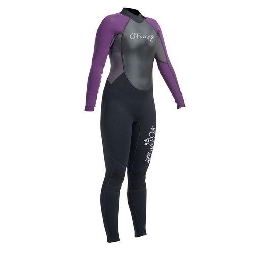 surf wetsuit / long-sleeve / full / women's